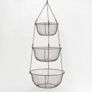 Amazon.com: Three Tier Hanging Wire Basket   World Market: Home U0026