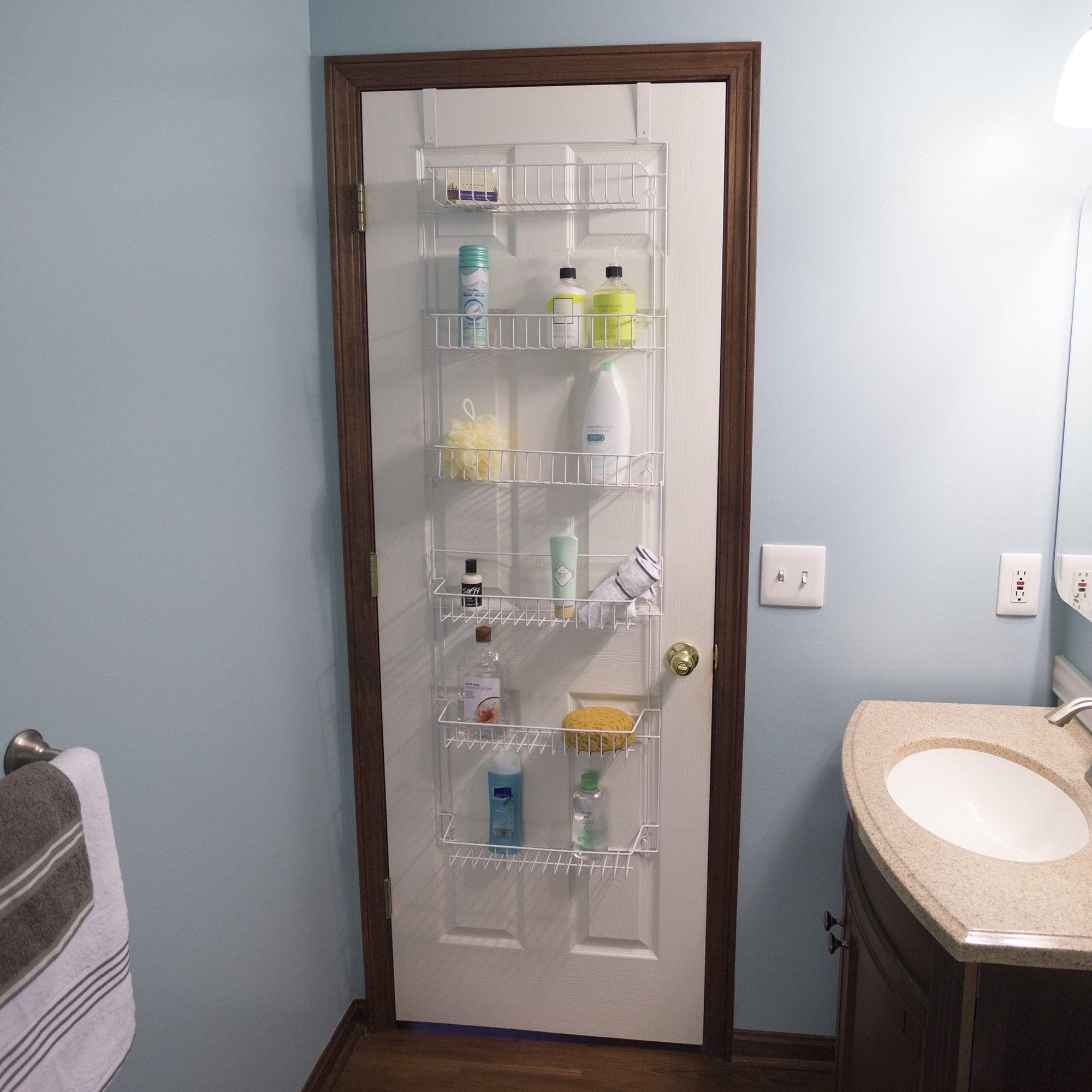 Over The Door Bathroom Organizer With 6 Shelves By Lavish Home Walmart Com In 2020 Bathroom Organisation Small Bathroom Decor First Apartment Decorating