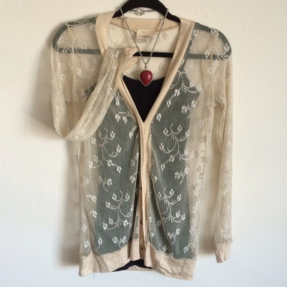 Sheer Cardigan Nude floral design sheer cardigan Daytrip Tops | My ...