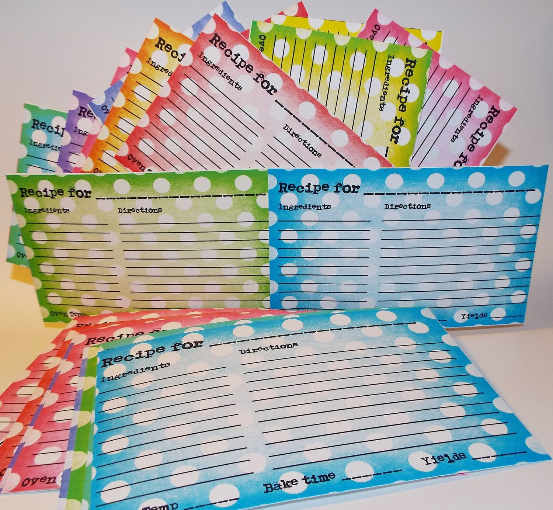 Recipe Cards 3x5 Recipe Cards Kitchen Decor