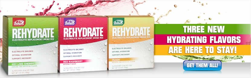 Stay hydrated with Rehydrate! The temps are rising so protect your body...Rehydrate comes in 3 new flavors!!