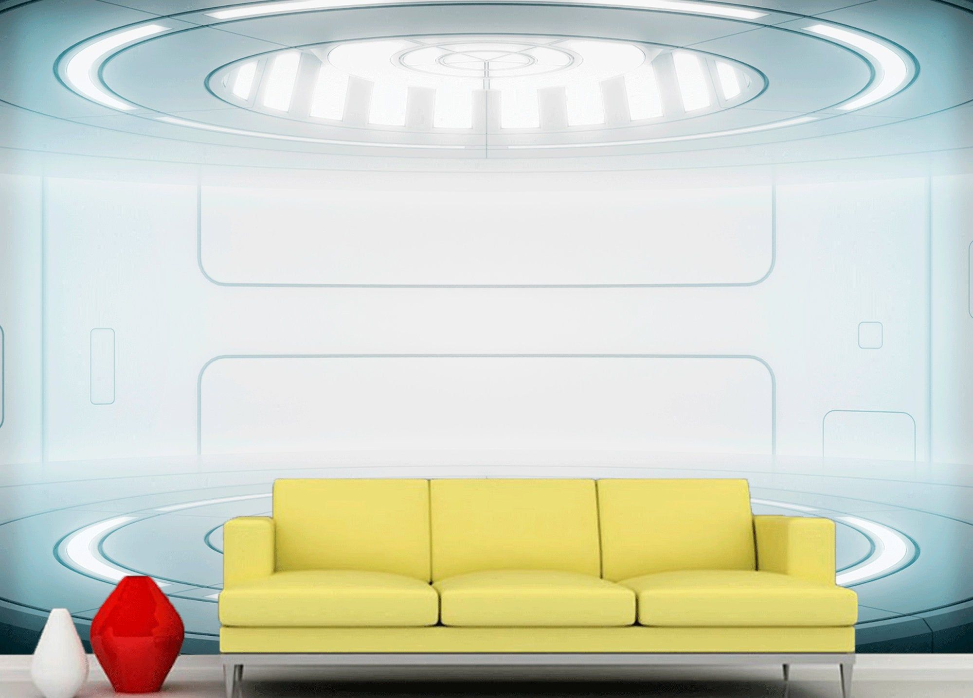 Wall mural sci-fi photo art Wall mural futuristic spaceship Fantastic interioir photo wallpapers Wall mural of starship interior SKU 20383