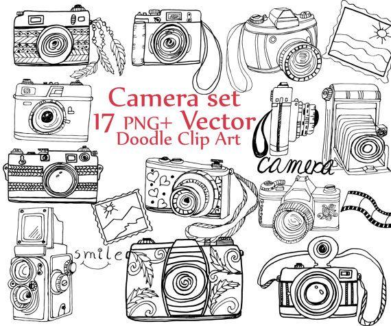 Doodle Camera Clipart Camera Clip Art Camera Vector Cute Cameras