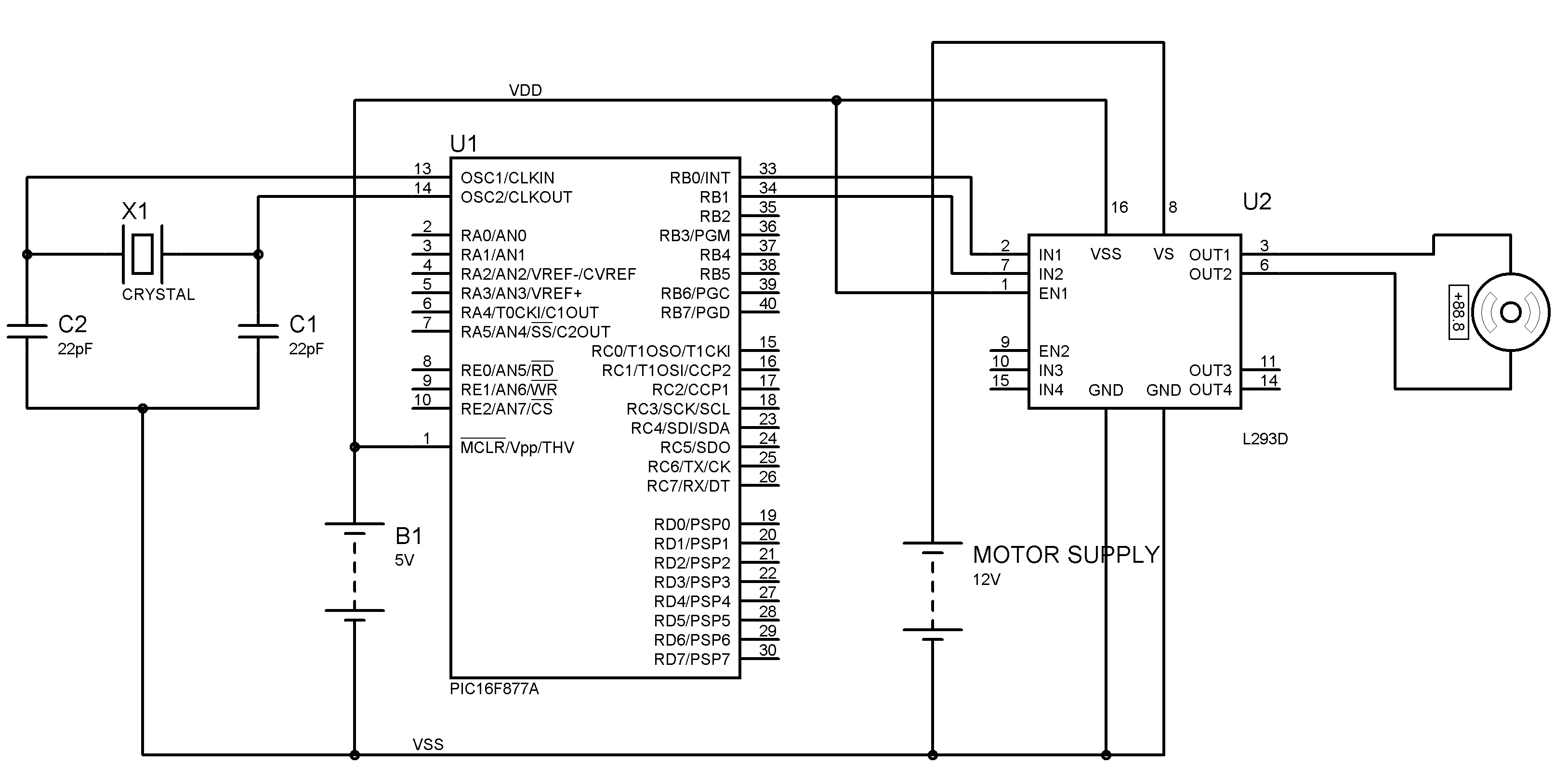 Interfacing Dc Motor With Pic Microcontroller
