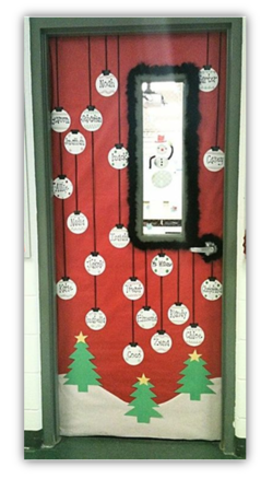 Deco De Porte Decembre Noel Idees Pour La Classe Noel Noel