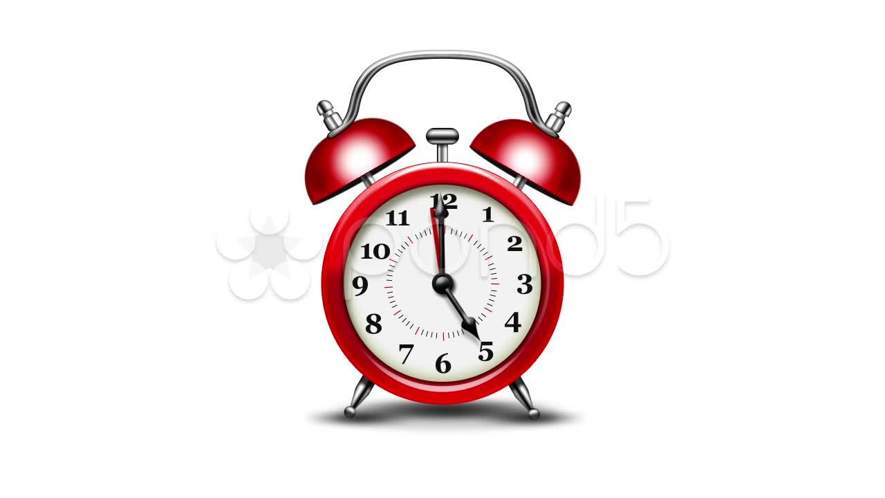 Red Alarm Clock Alpha Matte Stock Footage Clock Alarm Red Alpha Alarm Clock Clock Alarm