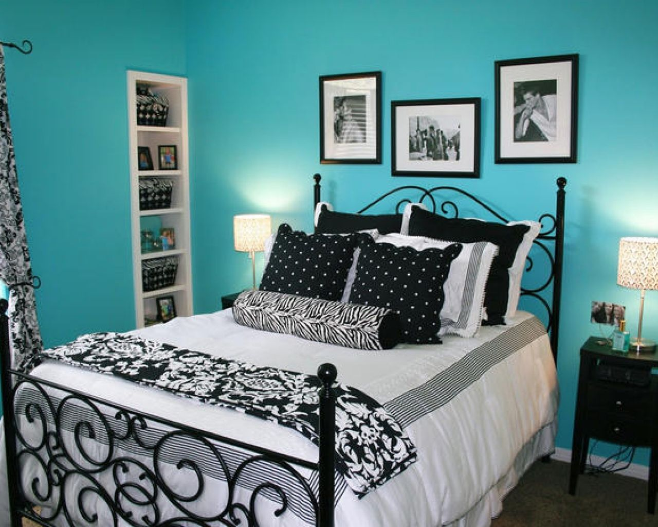 Black and white bed sheets tumblr - Blue And White Bedding Tumblr Google Search