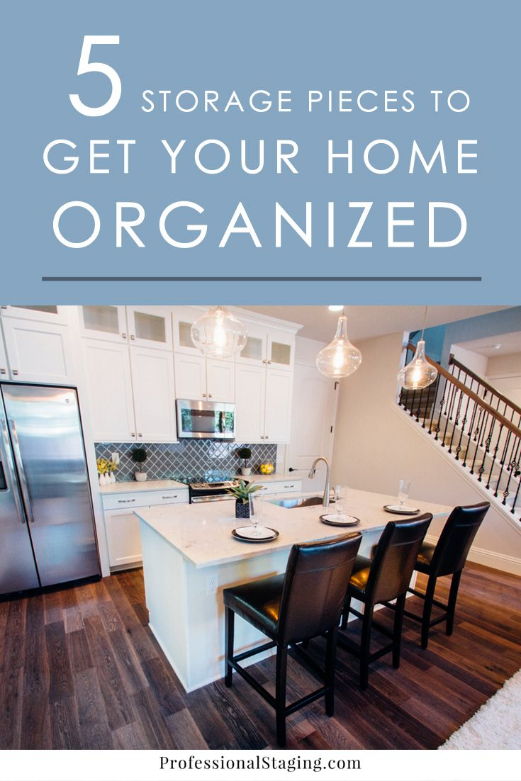 5 Storage Pieces to Help Get Your Home Organized | Storage, Spaces ...