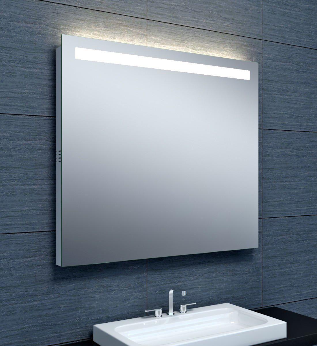 Miroir Musik Eclairage Led Bluetooth 90 X Hauteur 80 Cm Alterna Sanitaire Brossette Eclairage Led Miroir Meuble Metallique