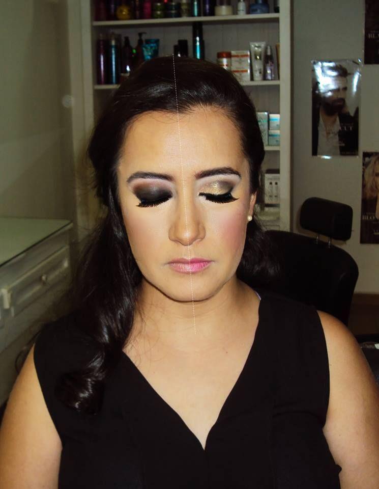 2 in 1 make up Bride's test Prueba de novia maquillaje dos en uno