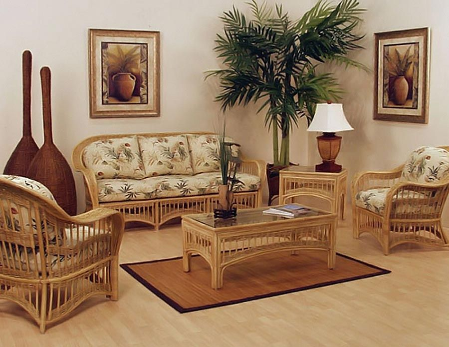 Colonial Style Homes And Wicker Living Room Furniture Natural