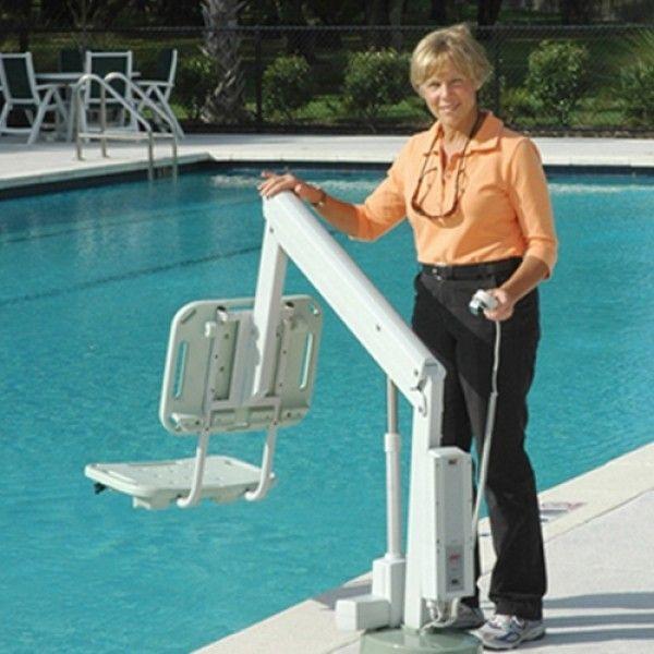 Axs Semi Portable Aquatic Pool Lift Swimming Pools Simple Pool Swimming Pool Steps