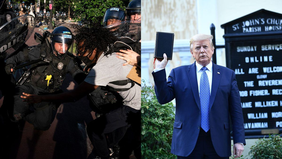 White Home Protesters Had Been Tear Gassed As A Result Of Trump Needed To Create Photograph Op In 2020 Create Photo Take Me To Church Photo Op