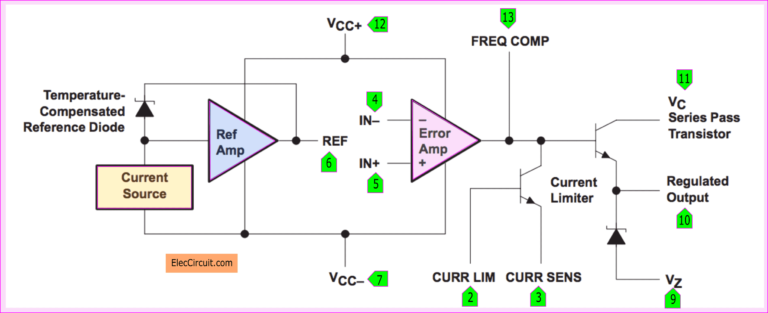 0 30v 0 5a Regulated Variable Power Supply Circuit Eleccircuit Com Electronic Circuit Projects Power Supply Circuit Voltage Regulator