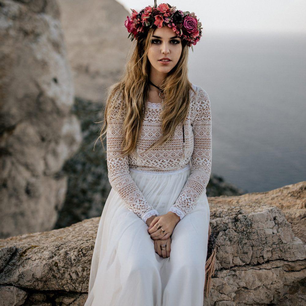 Unsere Kleider Hippie Hochzeitskleid Braut Brautkleid Vintage
