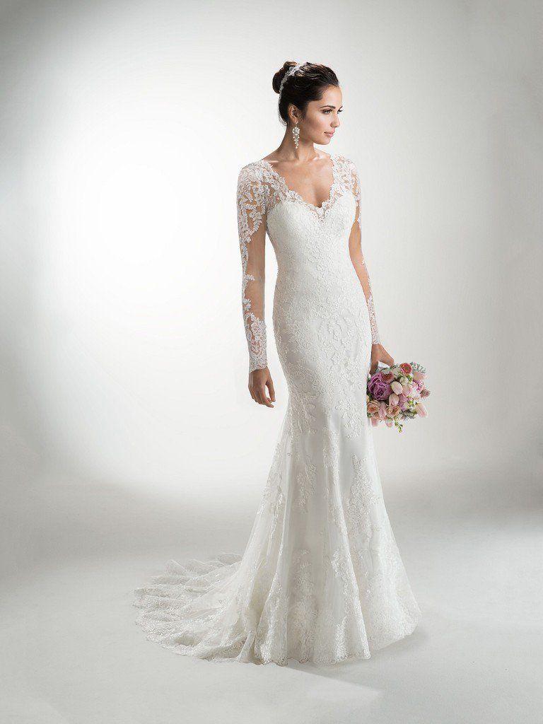 Maggie Sottero Bridal Long Sleeve Dresses