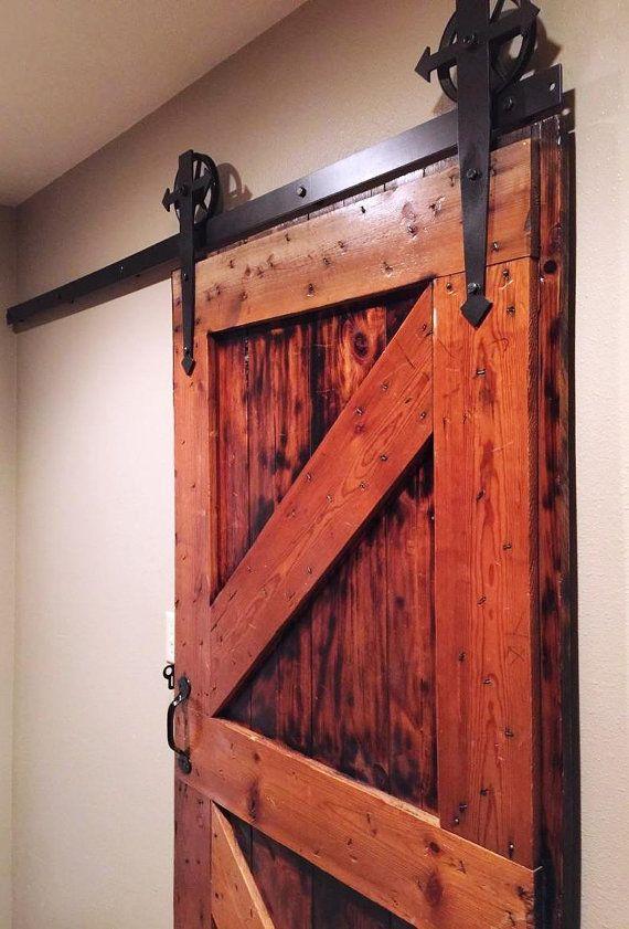 Arrow T Shaped Sliding Barn Door Hardware Set 6 Vintage Spoked