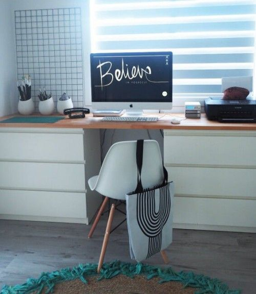 Schreibtisch ikea malm  DIY Desk With 2 Drawers From IKEA Malm   Shelterness   Home ...