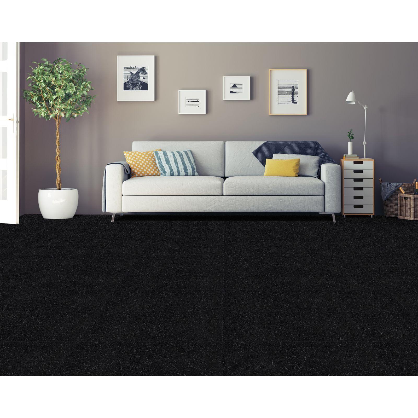 Achim Nexus Jet Self Adhesive Carpet Floor Tile (12 Tiles) (12x12 ...