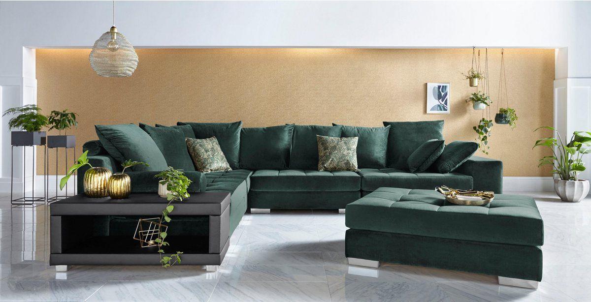 Hocker Vale Mit Federkern Und Steppung Im Sitzbereich Ecksofas Wohnen Sofa