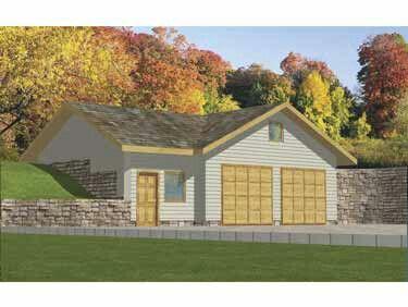 House Plan 039 00420 932 Square Feet Garage Shop Plans