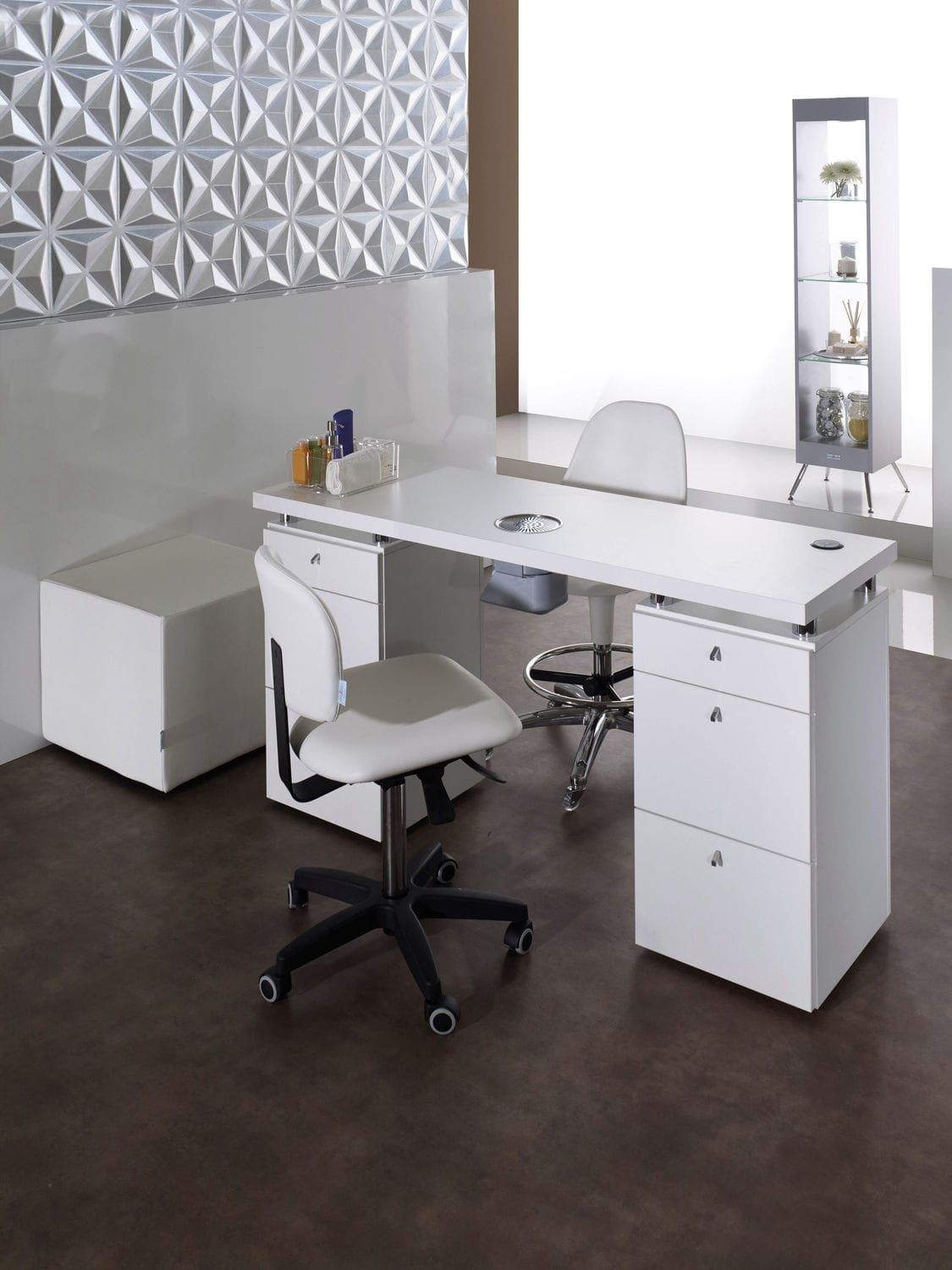 Manicure table with vacuum cleaner - LOGIC - Medical & Beauty | nail ...