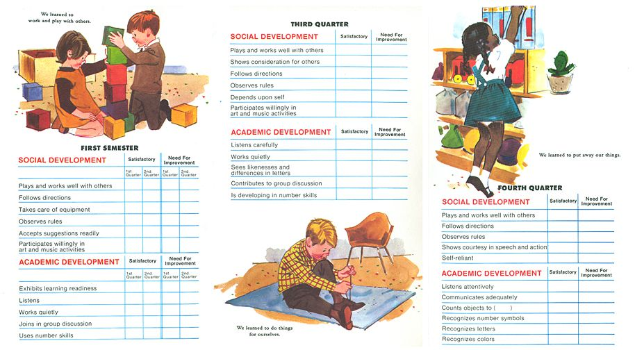 17 Best images about pre K - K report cards and records on ...