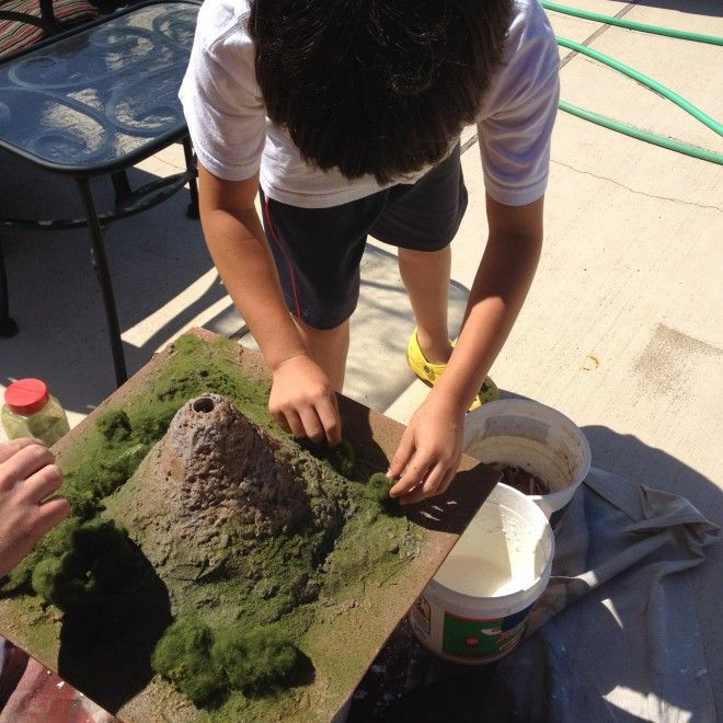 Making volcano model at home