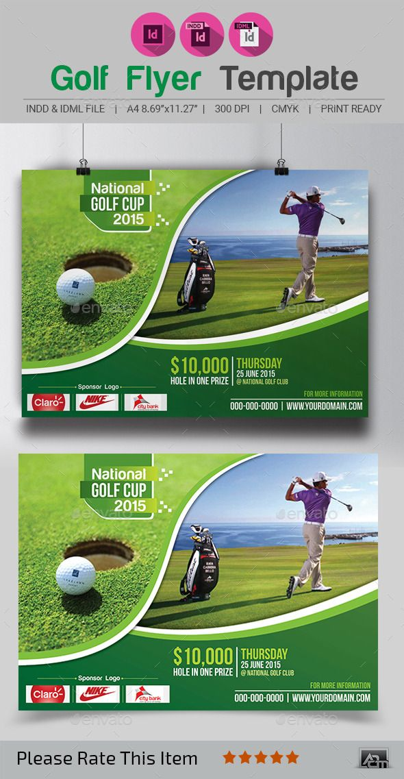 Golf Flyer Template By Aam360 FEATURES Size A4