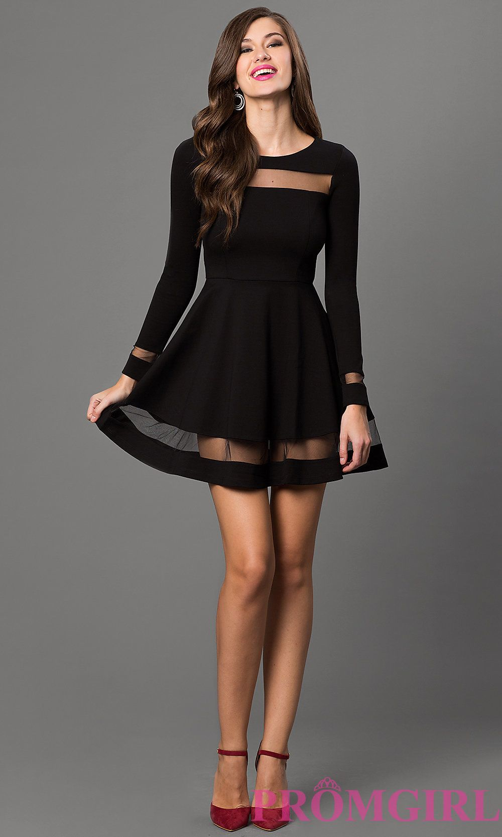 Short Black Dress With Long Sleeves