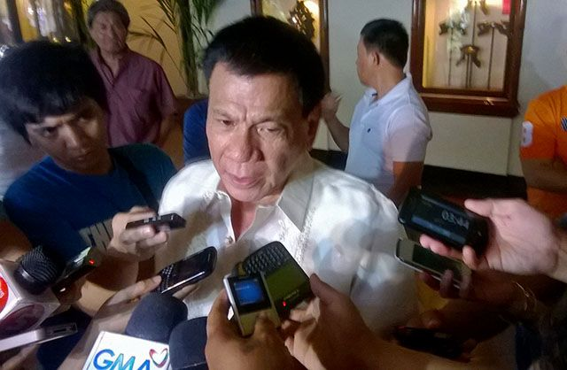 Davao City Mayor Rodrigo Duterte Has Said He Will Speak to the NPA Rebels Who Attempted to Overtake the Police Station in Mati City, Davao Oriental
