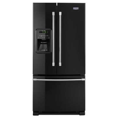 Maytag MFI2269DRE 21.7-cu ft 3 French Door Refrigerator Single Ice Maker (White Ice)