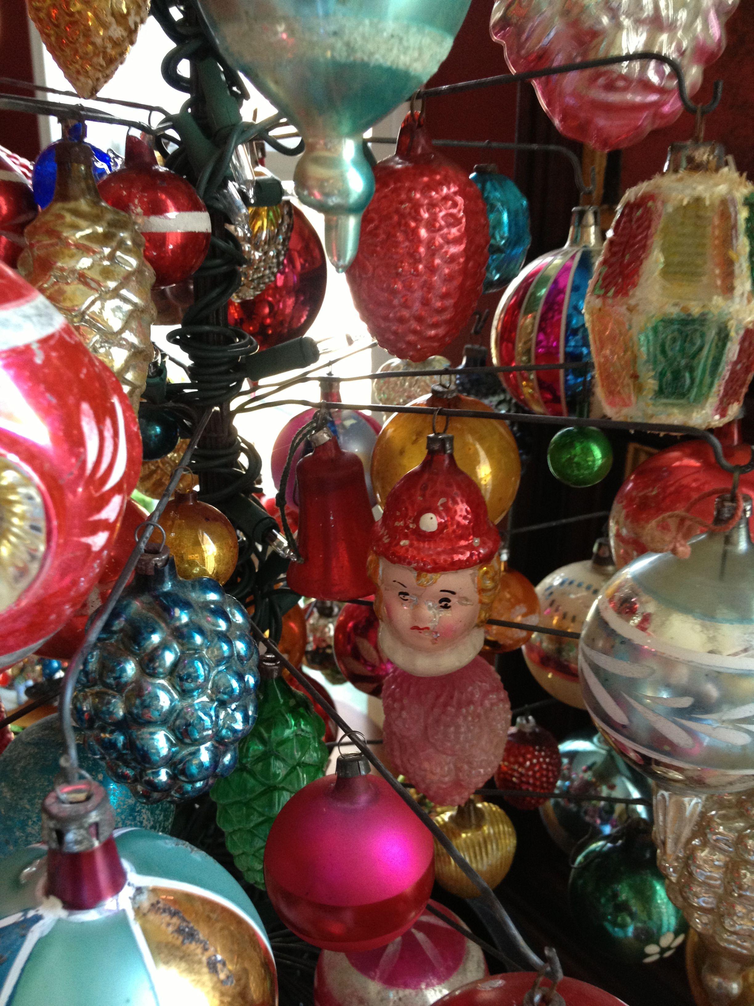vintage christmas ornament tree | ornaments | Pinterest