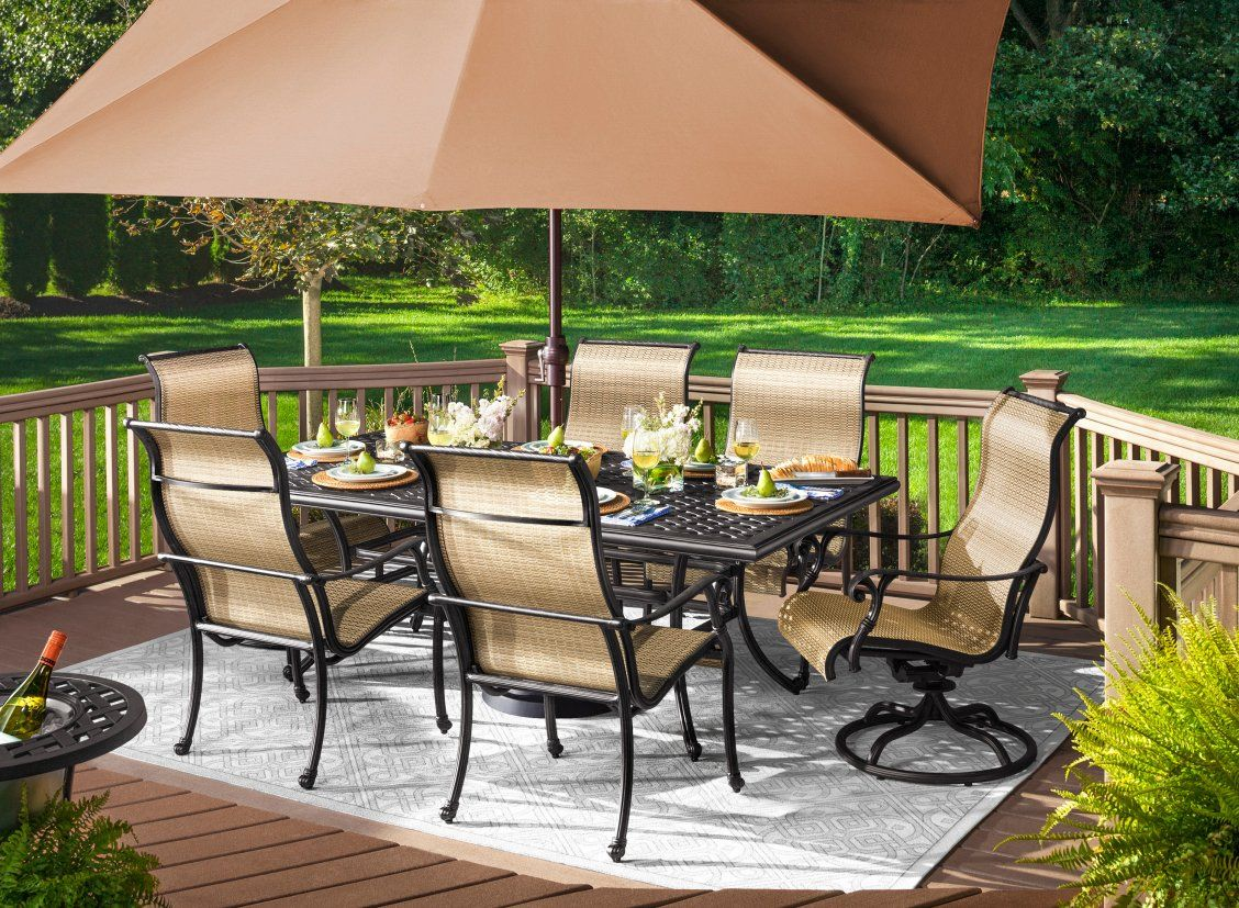 Dine Outdoors In Style With The Moreaux 9 Piece Outdoor Dining Set