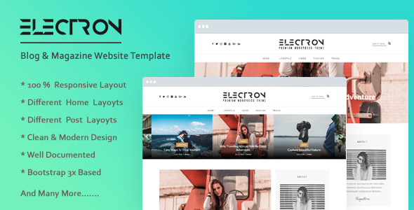 Electron Free Blog Bootstrap Html Website Template By Bylancer Website Template Free Website Templates Html Website Templates