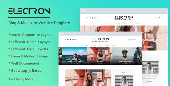 Electron Free Blog Bootstrap Html Website Template Website
