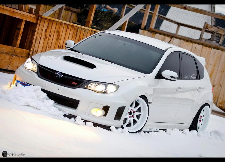 Subaru Impreza WRX STi...Beautiful Snow White!http://www ...