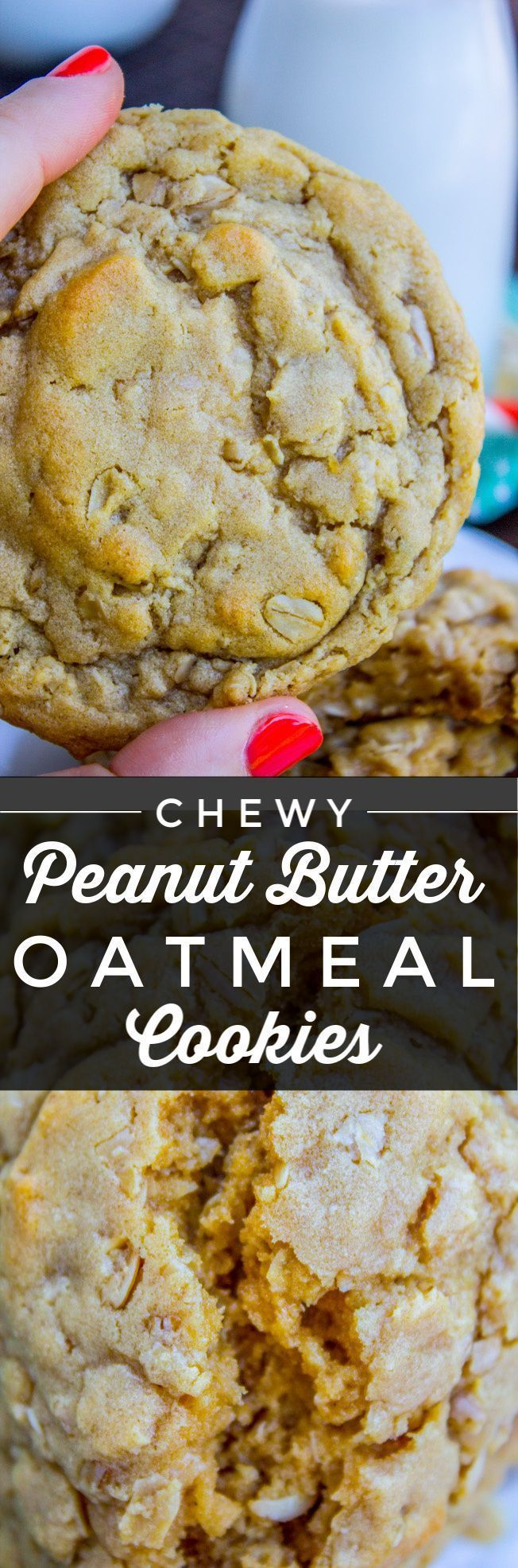 Chewy Peanut Butter Oatmeal Cookies from The Food Charlatan These Peanut Butter Oatmeal Cookies will blow your mind Tons of peanut butter flavor actual peanuts optional p...
