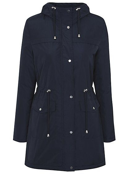 e431a452204b Shower Resistant Midweight Parka Coat - Navy, read reviews and buy online  at George at