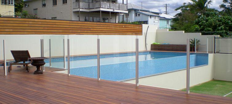 Glass Pool Fence semi-frameless glass pool fencing - swimming pools brisbane | pool