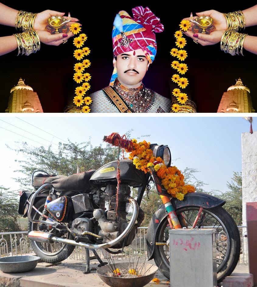 Om Banna Motorcycle Shrine Soul Of Things Lord Vishnu Wallpapers Lord Vishnu Shrine