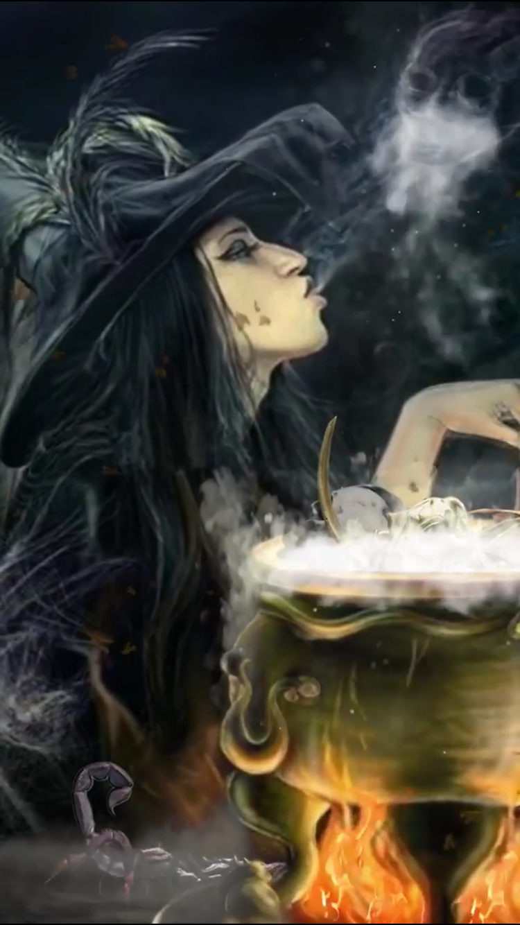 Halloween 2020 Credits Sound GO TO LINK TO SEE ANIMATION in 2020 | Dark fantasy art, Witch