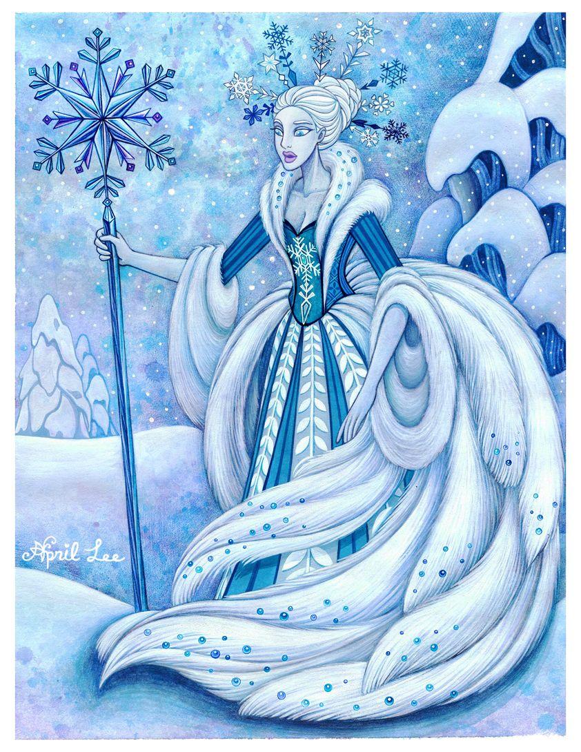 Поздравление днем, снежная королева рисунок