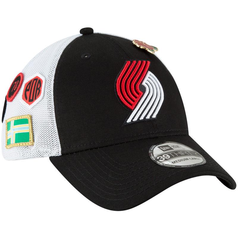 cheap for discount 9f78e 90c0b Portland Trail Blazers New Era 2018 Draft 39THIRTY Fitted Hat – Black