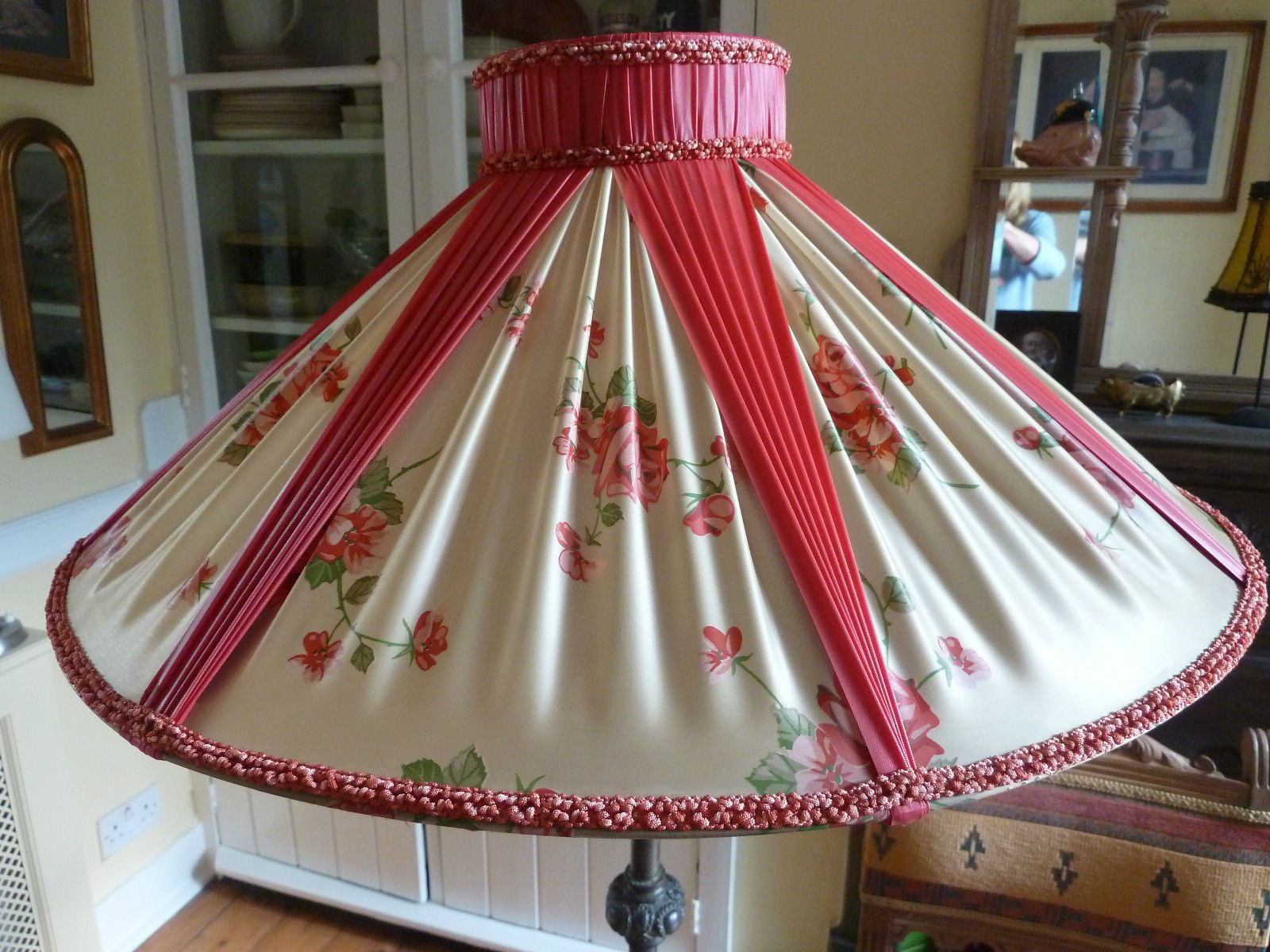 1950s shade for a standard lamp lampshadesbeautiful pinterest 1950s shade for a standard lamp aloadofball Choice Image