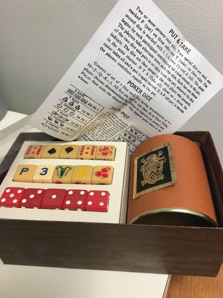 Vintage Boxed Four Game Dice Set | eBay