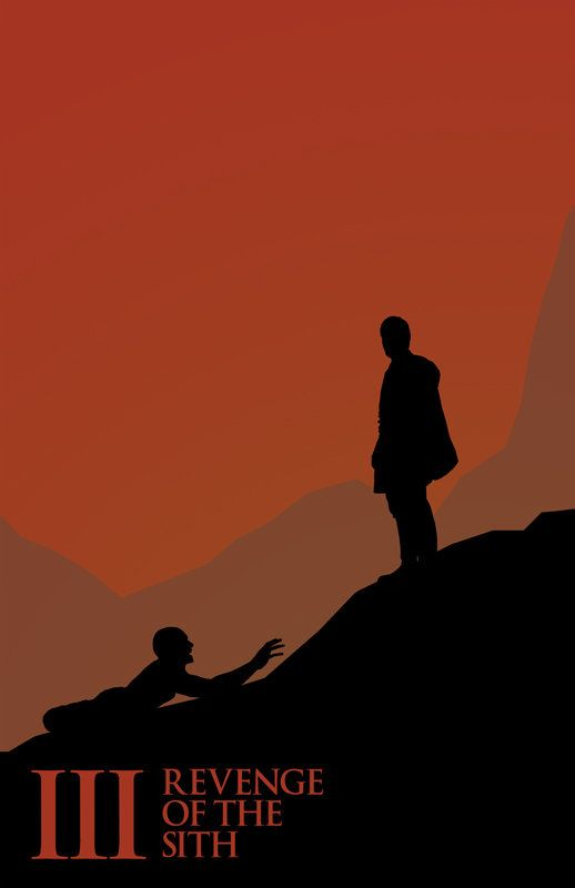 Minimalist Poster For Episode Iii Star Wars Poster Star Wars Silhouette Star Wars Film