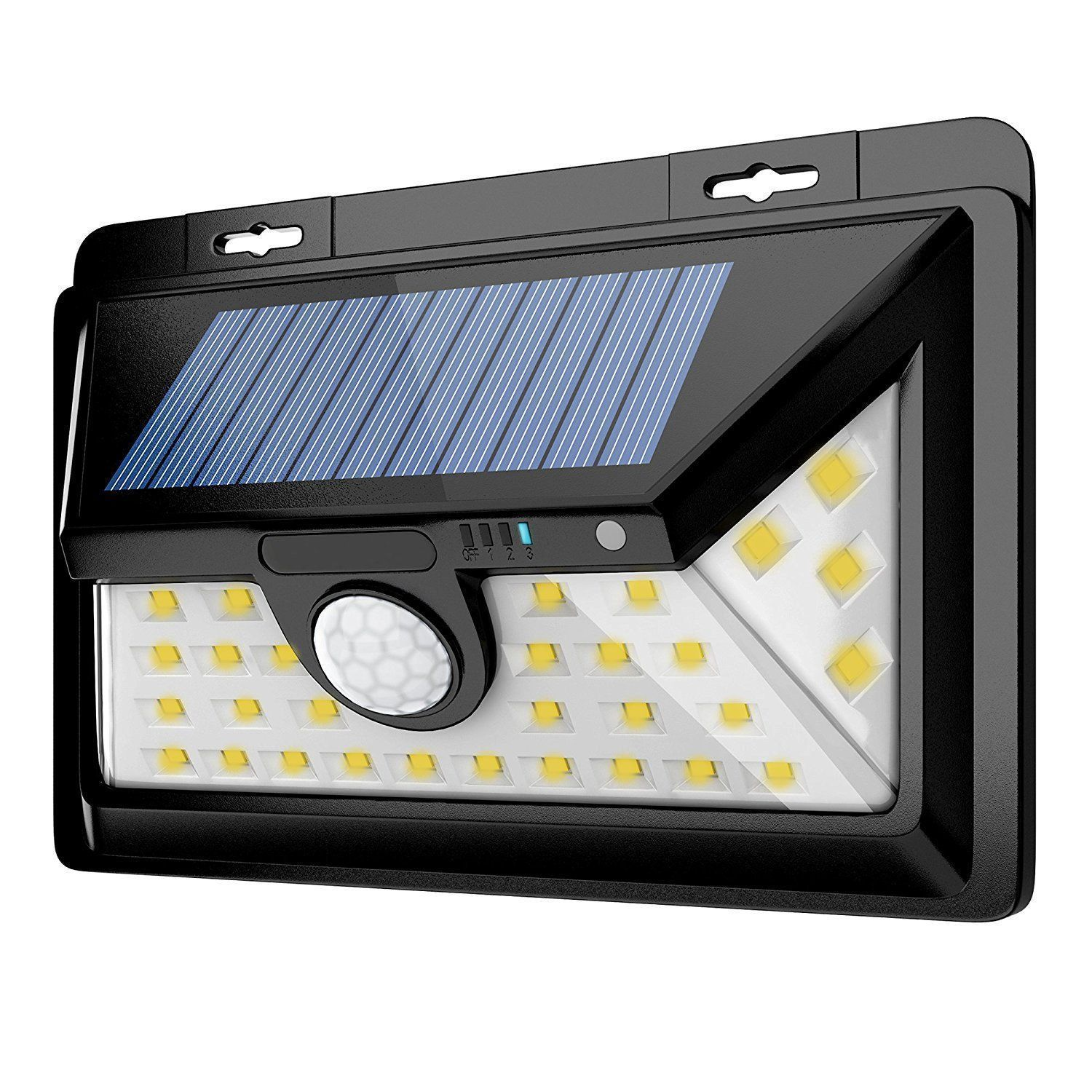 Imay solar lights outdoor leds solar warm lights front switch