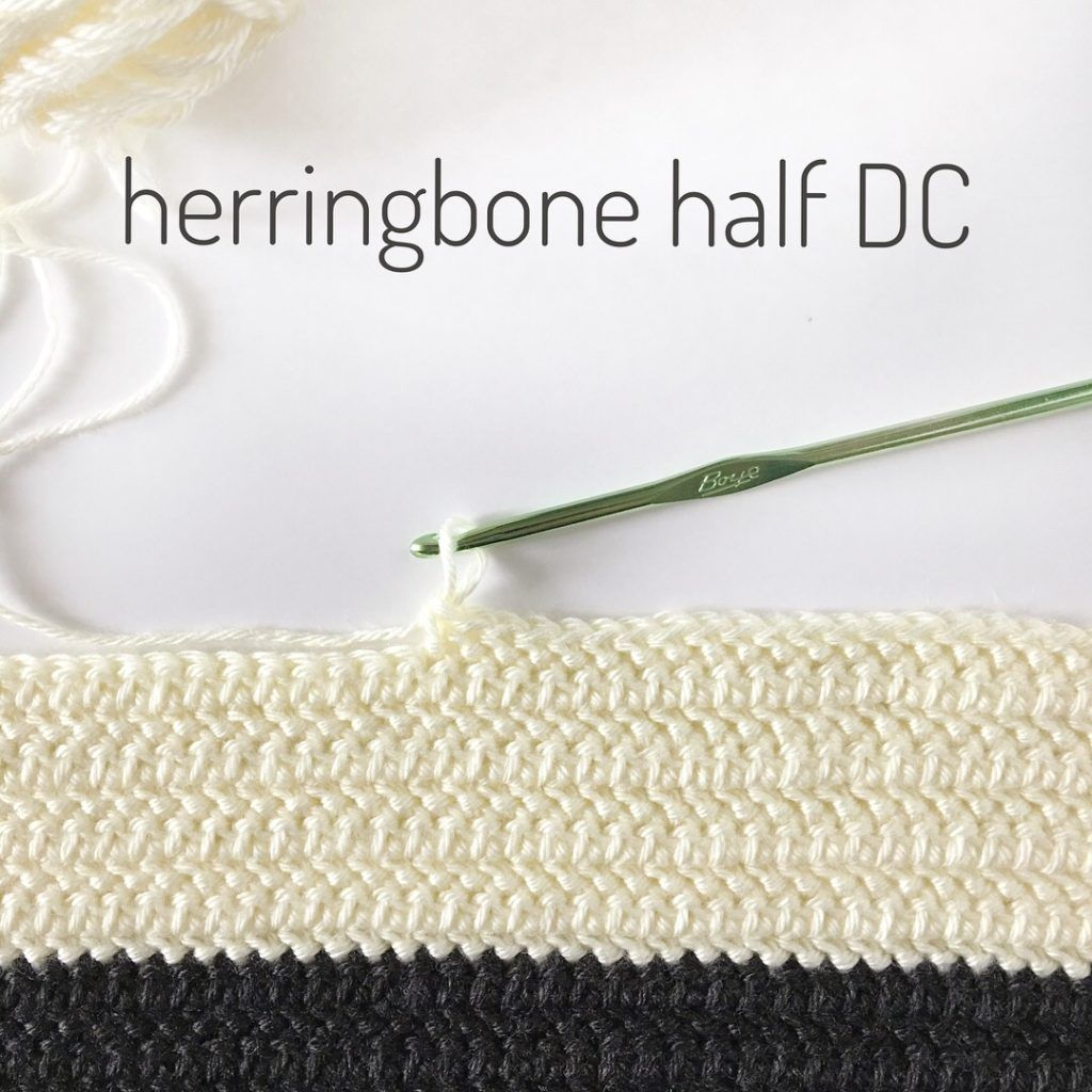 Learn how to crochet the Herringbone Half Double Crochet Stitch! A ...