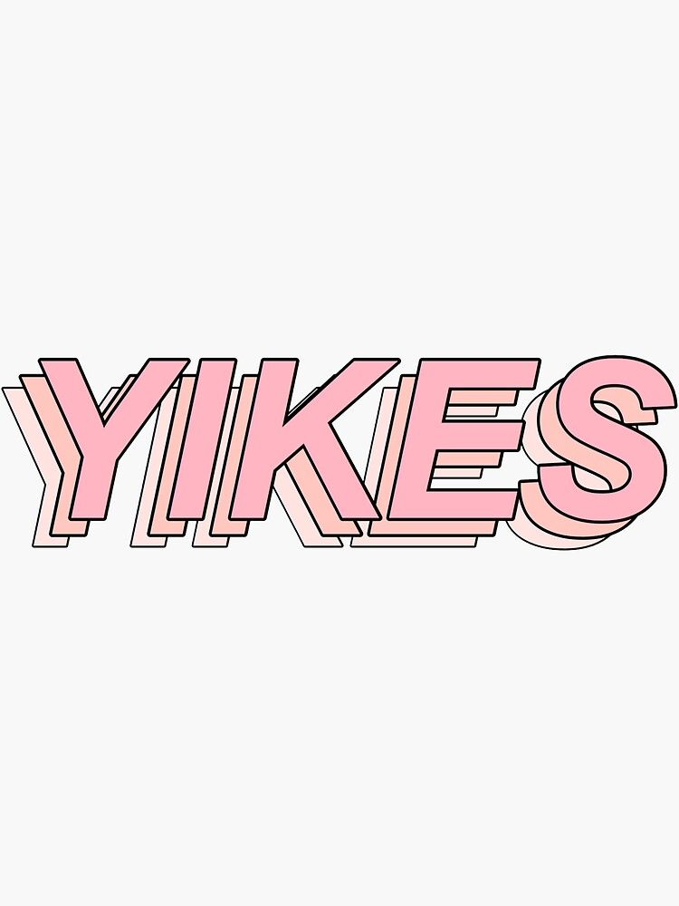 'YIKES aesthetic Sticker' Sticker by stressed-djun